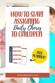 Here are some tips on How to Start Assigning Chores to Children when they are not young anymore. Get A FREE Planner to Start assigning Chores to children Free Planner, Printable Planner, Printables, Chore Cards, Parent Resources, Christian Parenting, Parenting Advice, Natural Parenting, Life Skills