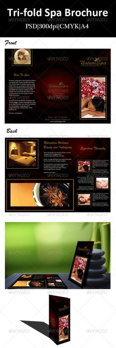 TriFold Spa Brochure Brochures, Spa and Tri fold brochure - spa brochure