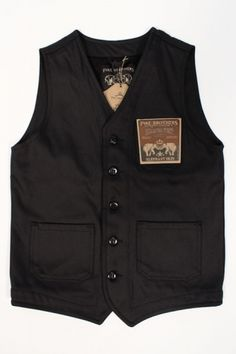 Pike Brothers 1937 Roamer Vest Elephant Skin Black : SUNSETSTAR