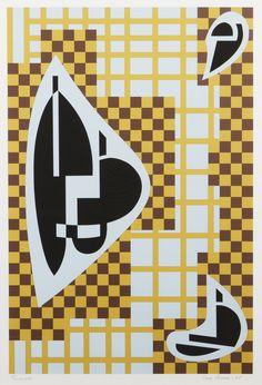 Sam Vanni: Sommitelma, 1985, serigrafia, 66x44 cm, edition PP - Hagelstam K140