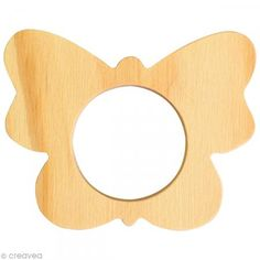 Rond de serviette bois à peindre - Papillon - Photo n°1