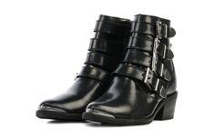 Zwarte NIKKIE Booties | Buckle Boot