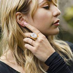 Amazon.com: Agate Druzy Gemstone Hammered Cuff Cocktail Ring: Handmade Agate Ring, Agate Gemstone, Gemstone Rings, Druzy Ring, Geode Jewelry, Cocktail Rings, Oregon, Bali, Jewels