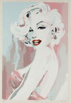 "MARILYN MONROE PRINT BY BOB MACKIE A limited edition numbered print depicting an idealized image of MM in pastel tones; pencilled in the lower left-side margin is ""219/275,"" in the middle is ""Marilyn"" and on the right-side is ""Bob Mackie,"" the noted clothes designer who created this work.38 x 27 inches Matted and Framed"