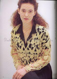 Ivelise Feito à Mão: Blusa Em Motivos Lace Crochet...Linda!