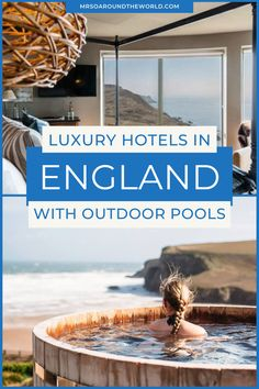 Looking for luxury hotels in the UK with an outdoor pool this Summer? The number of luxury hotel rooms in the UK with an outdoor pool is limited, but here are the 5 UK luxury hotels with an outdoor pool we chose for our UK Summer holidays. | Mrs O Around the World #LuxuryTravel #LuxuryHotel | united kingdom travel | uk hotels with pools | UK hotels with hot tubs Travel Uk, Ireland Travel, Luxury Travel, European Destination, European Travel, Luxury Hotels, Hotels And Resorts, Uk Summer Holidays, Travel Around The World