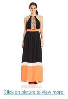 XOXO Women's Colorblocked Maxi Dress