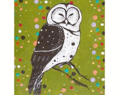 owl kids painting on Etsy, a global handmade and vintage marketplace.