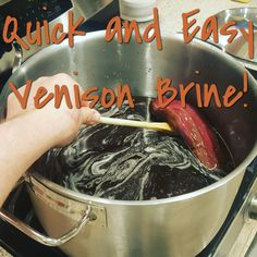 Venison is a perfect choice for brining. Brining adds needed moisture and a subtle extra layer of flavor. My venison brine is a winner and crowd favorite. Venison Brine Recipe, Venison Marinade, Cooking Venison Steaks, Venison Jerky, Venison Recipes, Grilling Recipes, Venison Meals, Venison Burgers, Recipes