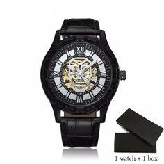 Luxury Stainless Steel Skeleton Wrist Watch - Skullflow    https://www.skullflow.com/collections/skull-watches/products/luxury-skeleton-watch