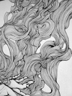 Via behance texture drawing, sketch painting, doodle art, art lessons, art quot Form Design, Texture Drawing, Line Drawing, Illustration Art Drawing, Art Drawings, Linear Art, Doodle Art Designs, Arte Sketchbook, Alphonse Mucha