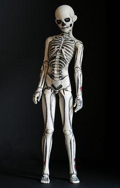 Skeleton boy. Creepy little boy, you need to stay away from my door on Halloween, okay?