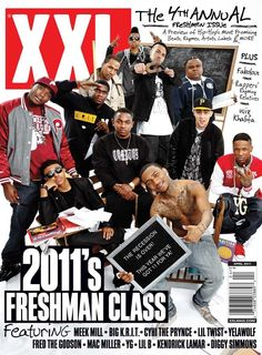 XXL Freshman Class of 2011: Meek Mill, Big K.R.I.T., Cyhi The Prynce, Lil Twist, Yelawolf, Fred The Godson, Mac Miller, YG, Lil B, Kendrick Lamar and Diggy Simmons