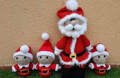 """""""Telmo"""", por Olga, desde Facebook Christmas Ornaments, Holiday Decor, Facebook, Home Decor, Note Cards, Xmas, Patterns, Manualidades, Street"""
