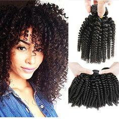 Morningsilkwig 1 Bundle Grade 6A Tissage Naturels Boucles Crepus Bresilien Cheveux 12 Pouces Vierges Afro Kinky Curly Cheveux Humains Weave…