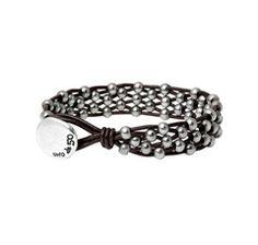 "Leather bracelet ""Sinfonía"" by the Spanish jewellery brand Uno de 50."