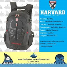 Uma mochila que representa bem o estilo da marca. #harvarduniversity #harvard #schoolbags #backpack #notebook #productdesign #projectdesign #graphicdesign #kingleonidas #leonidasking #leonidasdesigner #shark