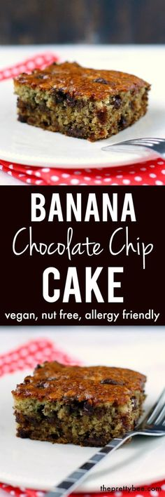 Delicious and easy to make vegan banana snack cake is the perfect dessert!