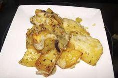 Patatas al horno con oregano y romero gratinadas al horno