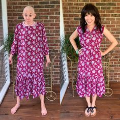 I refashioned a dowdy '80s Maternity Dress into a Cute Sundress! Learn how to upcycle old thrift store clothes in this easy DIY tutorial by the Refashionista!