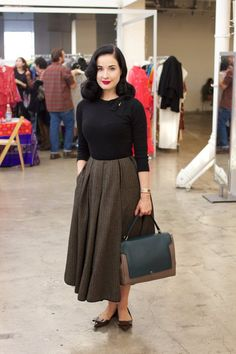 Dita Von Teese at A Current Affair Pop Up Vintage Marketplace | Pocket Venus: Dita Von Teese
