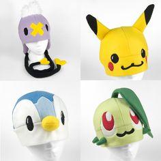 Pokemon fleece hats