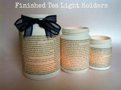 DIY Tutorial: Tea Light Jam Jars