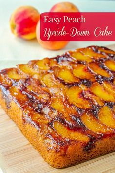 Peach Cake Recipes, Fruit Recipes, Sweet Recipes, Baking Recipes, Dessert Recipes, Fresh Peach Recipes, Nectarine Recipes, Classic Desserts, Gastronomia