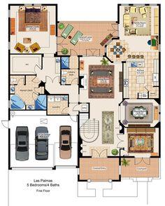 Las Palmas 2 Story with Bonus Room Eagle Creek Centerline Builders Orlando, FL