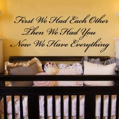 For baby room by aline // beautiful quote for nursery wall