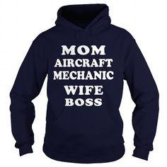 I Love Mom Aircraft Mechanic Boss T shirts