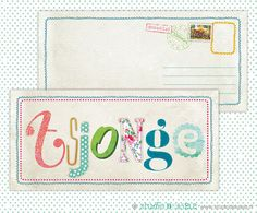 #Card #Kaart #Vintage look #Canvas #Tsjonge #Letters #Tekst #Vrolijk
