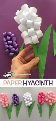 Paper hyacinth Best Picture For spring crafts umbrella For Your Taste You are looking for something, and it is going to tell you exactly what you are looking for, and you didn't find that picture. Spring Crafts For Kids, Summer Crafts, Projects For Kids, Art For Kids, Craft Projects, Art Children, Craft Ideas, Preschool Crafts, Easter Crafts