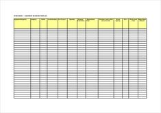 food inventory template in ms excel format