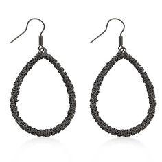 Hematite Earring Drops