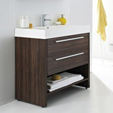 Ultra - Harbour Basin & Cabinet - Walnut Finish x - at Victorian Plumbing UK Basin Cabinet, Furniture, Bathroom Furniture, Vanity Units, Mirror Cabinets, Cabinet, Bathroom Units, Walnut Cabinets, Bathroom Sink Cabinets