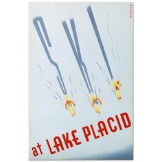 Ski at Lake Placid, Hand Pulled Lithograph, Sascha Maurer w/COA New never framed in Art, Art from Dealers & Resellers, Posters   eBay