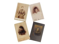 Victorian Women Cabinet Cards, 4 Cards, Antique Portrait Photos, Victorian Photographs, Antique Photo Lot, Cabinet Card Lot, FREE SHIPPING! by LavishMaidenVintage on Etsy