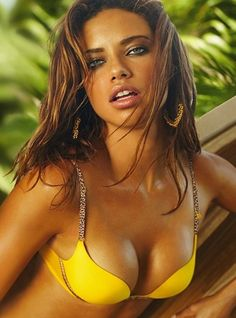 Adriana Lima- her exotic beauty is my ultimate definition of beautiful.