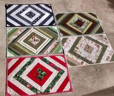 Tapete de retalho: 60 fotos e tutoriais para deixar sua casa mais linda Patchwork Quilting, Rag Quilt, Quilts, Quilted Table Runners, Mug Rugs, Knitted Blankets, Quilt Patterns, Diy And Crafts, Sewing Projects