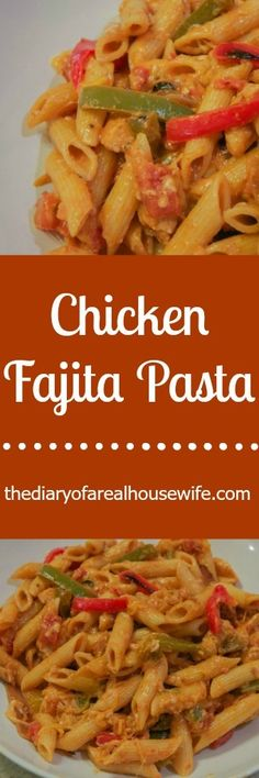 Chicken Fajita Pasta! Two of my favorites, pasta and mexican in one AWESOME dish. So easy to make you HAVE to try it for dinner asap.