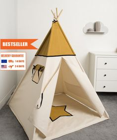 children teepee tent, kids play tent, tipi, teepee tent, set 6 elements indian wigwam Wafer by cozydots on Etsy Kids Tents, Teepee Kids, Teepee Tent, Teepees, Rv Parks, Crafts To Do, Outdoor Gear, Deco, Baby Shower