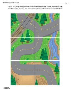 Paper road for cars - would be fun to print on large scale poster or find similar fabric