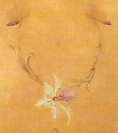 Esquisses et Croquis - Art Nouveau - Collier Orchidée - Georges Fouquet