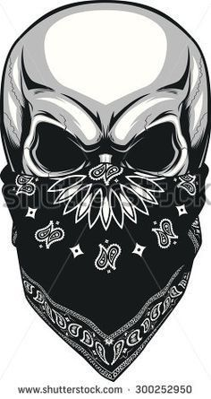 Delincuensia Body Art Tattoos, Cool Tattoos, Skull Tattoos, Crane, Bandana Tattoo, Skull Pictures, Skull Design, Drawings Of Skulls, Chicano Art