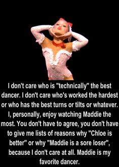 Maddie is not my favorite. Chloe is, but I'm not hating on her!  I'm posting this to show people that no matter what u say people will always love Maddie!