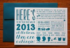 Graphic Moving Announcment Holiday Cards by Studio Epherma via Oh So Beautiful Paper (3)