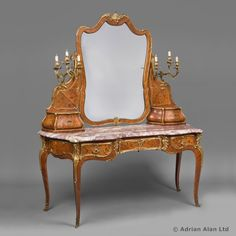 An Exceptional Gilt-Bronze Mounted Kingwood and Marquetry Dressing Table by JOSEPH-EMMANUEL ZWIENER - Adrian Alan