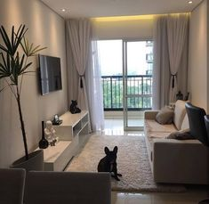 Hidden Facts About Small Living Room Apartment Decor Ideas - prekhome Classy Living Room, Narrow Living Room, Condo Living Room, Tiny Living Rooms, Small Apartment Living, House Rooms, Living Room Designs, Living Room Decor, Small Apartment Interior