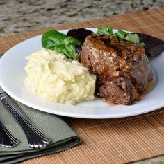 brandy and mustard glazed tenderloin steaks